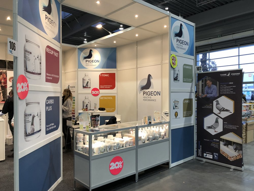 PigeonHP booth at the Olympiad in Poznan 2019